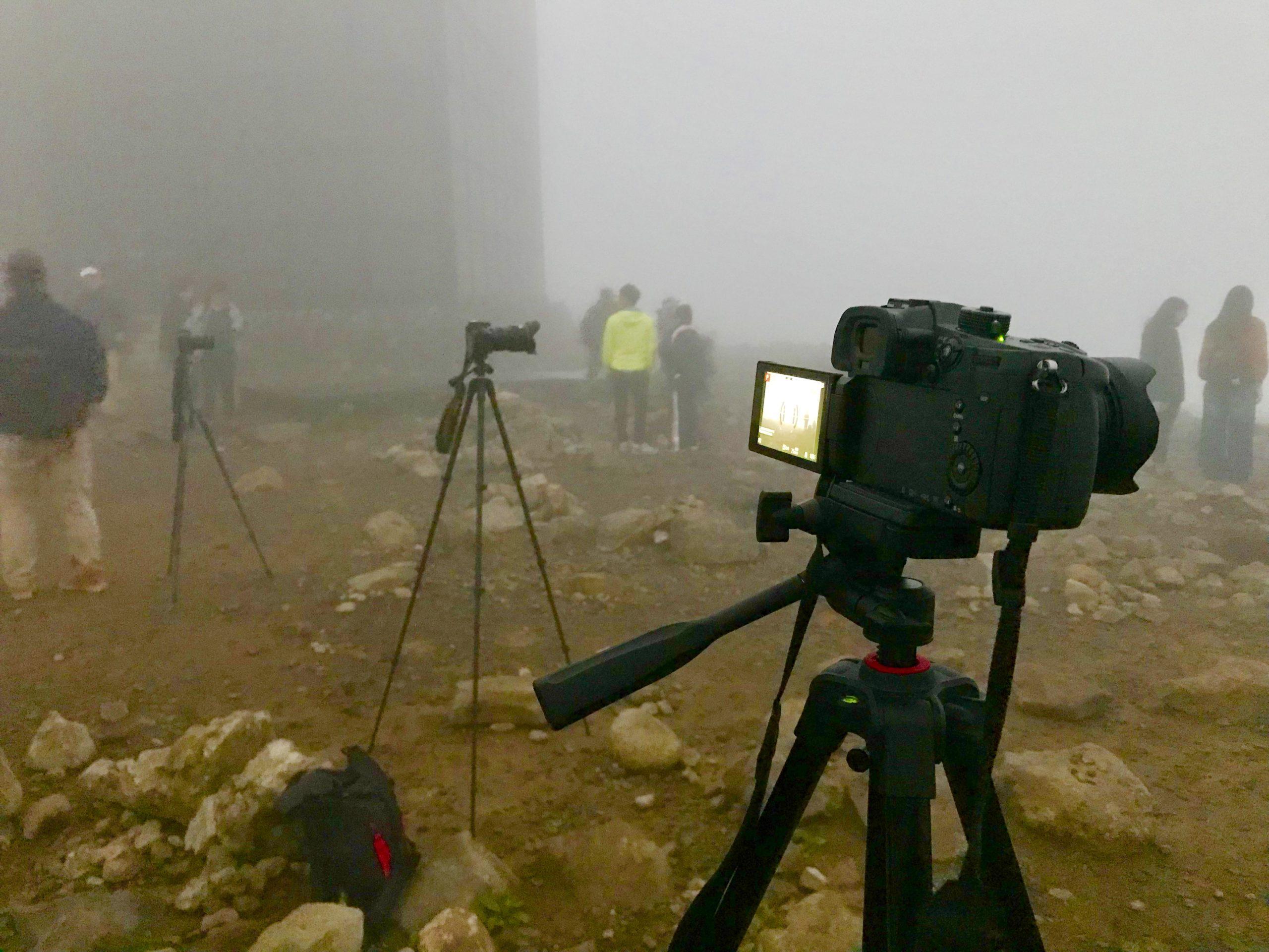 霧の中の撮影