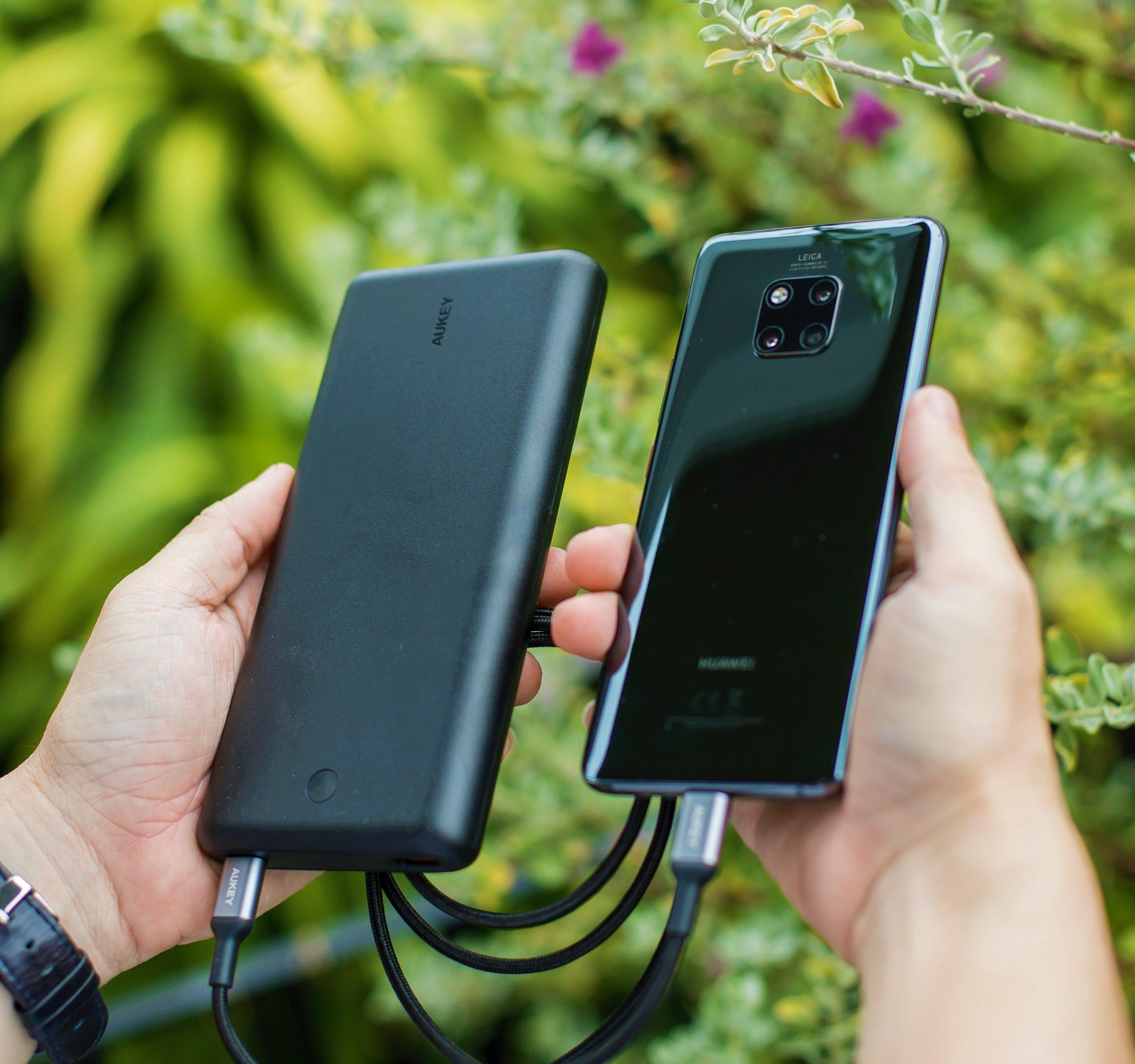 モバイルバッテリーと自然