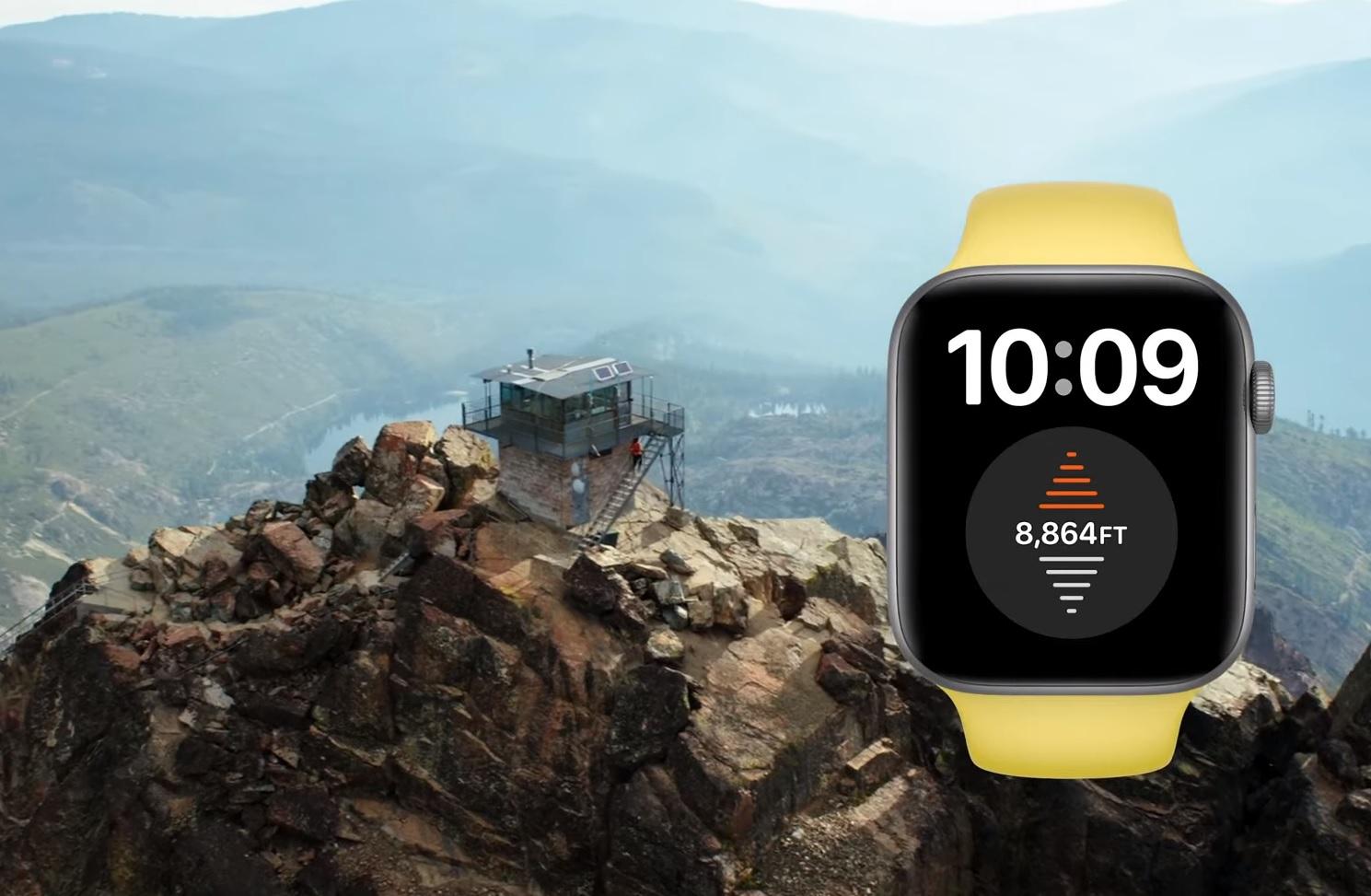Apple Watch Series 6 高度計