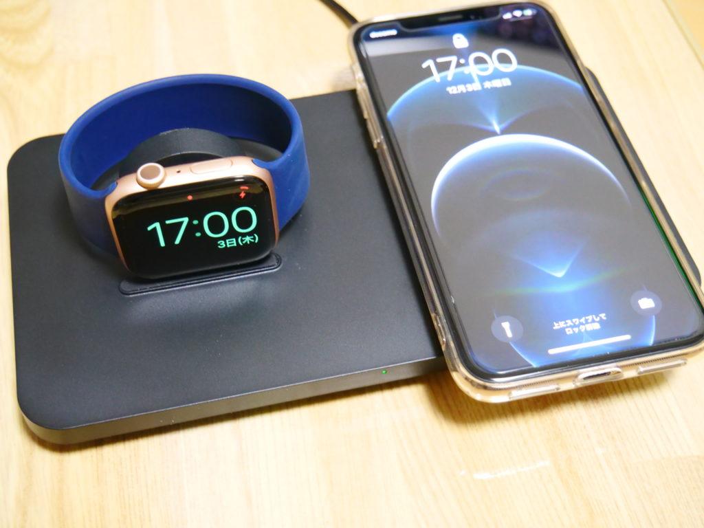 Seneo ワイヤレス充電器 2in1 Apple Watch対応 ワイヤレス チャージャー