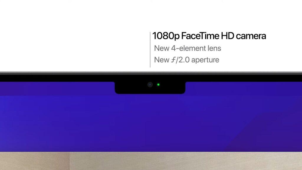 1080p FaceTime HDカメラ搭載