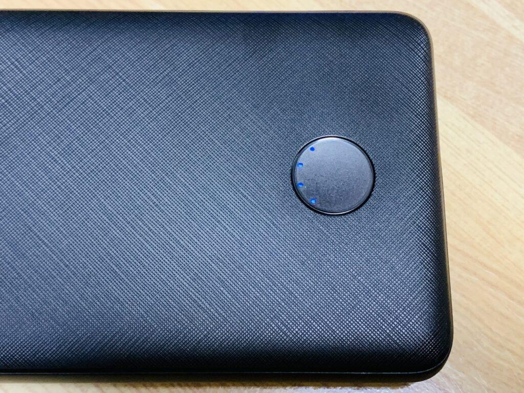 モバイルバッテリー表面