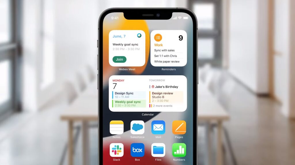 iOS 15 home