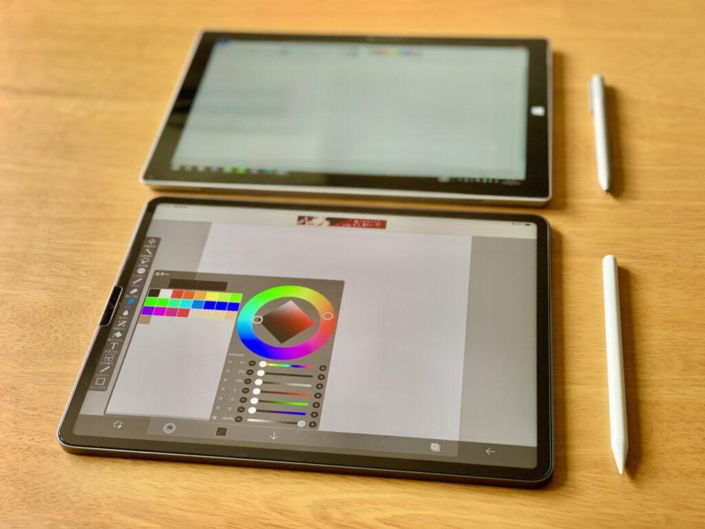 iPad ProとSurface Pro操作性