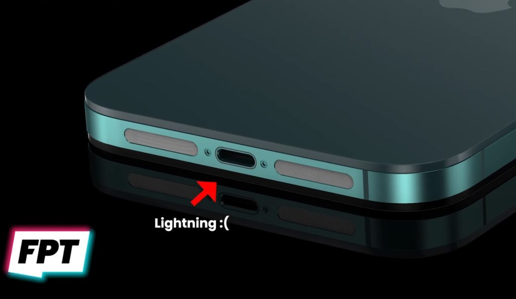 iPhone14の充電ポート